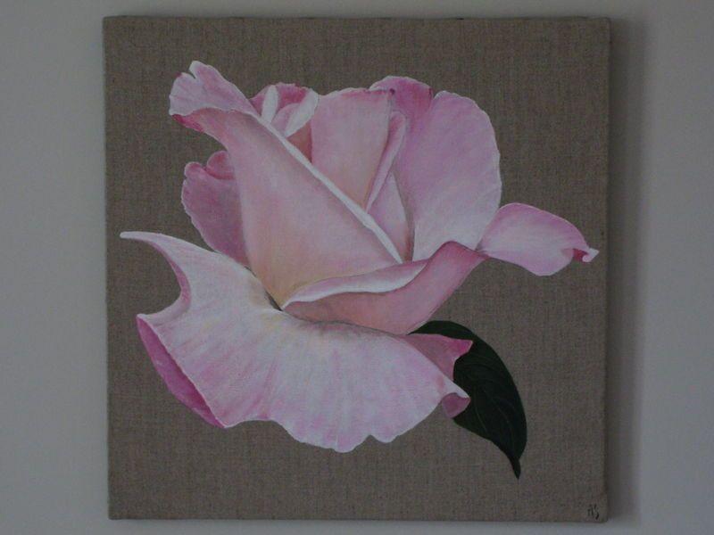 rose grans modèle (50x50) | fleurs | pinterest | peinture fleurs