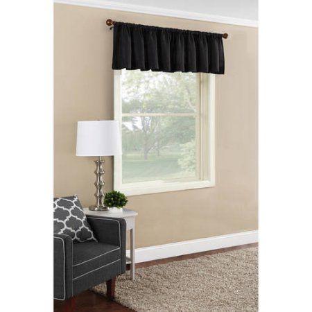 Mainstays Textured Solid Curtain Valance Black Valance Curtains Curtains Valance