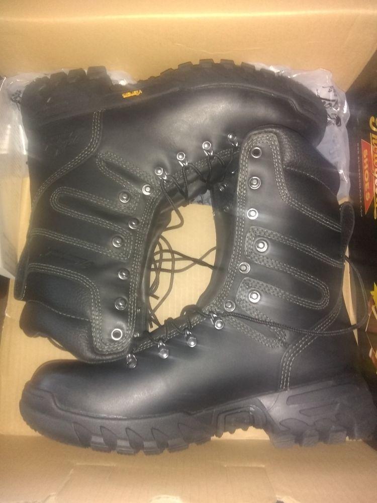 e7d1f2683a9 Thorogood Mens Elite Black Leather Hiking size 10 Firestalker ...