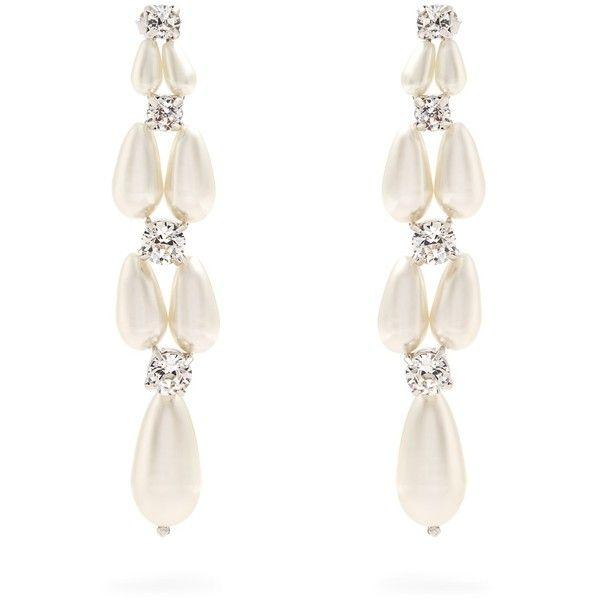 faux pearl and crystal drop earrings - White Simone Rocha 098GP6