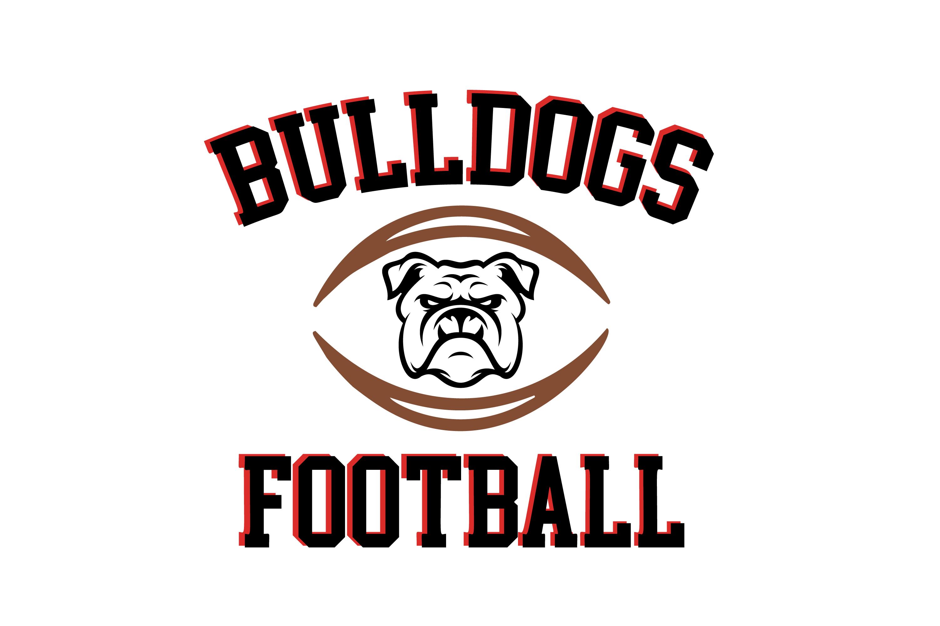Bulldogs Football High School Mascot SVG (Graphic) by