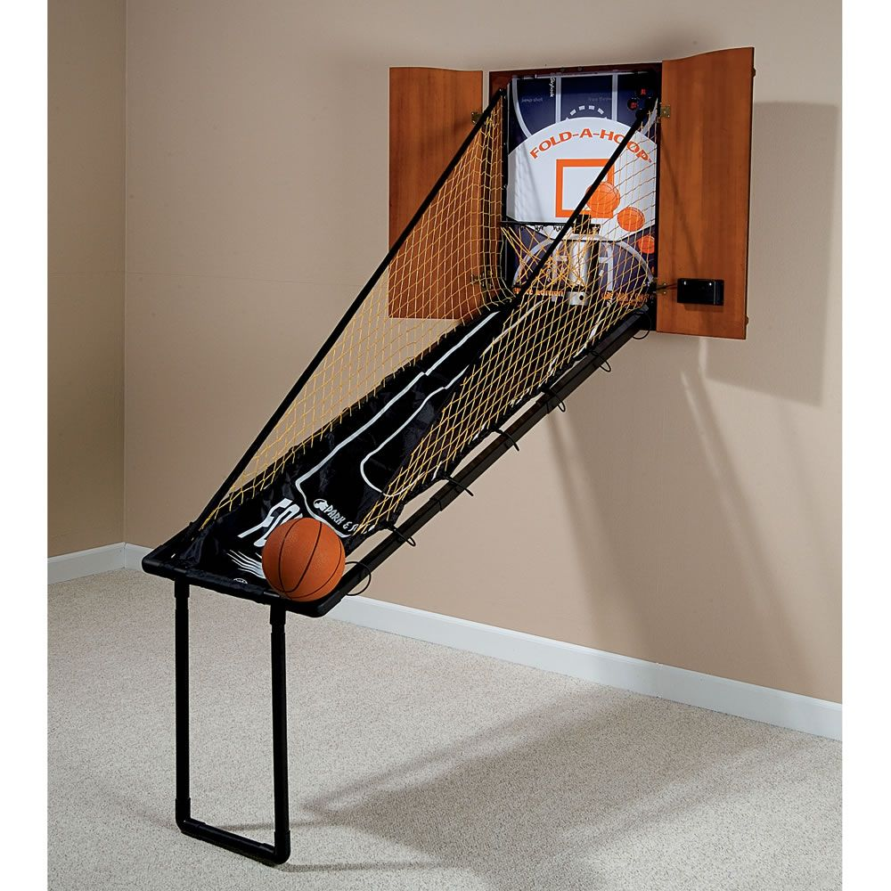 The Wall Mounted Fold Out Mahogany Basketball Game 150