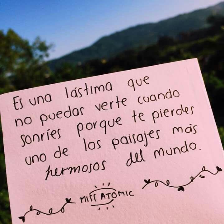 Tiene La Sonrisa Mas Bonita Del Love Pinterest Amor Frases De