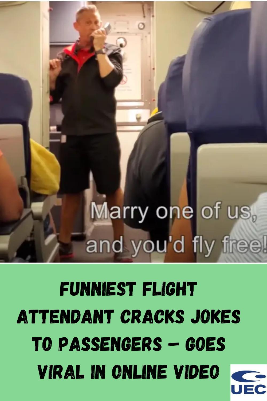 Funniest Flight Attendant Cracks Jokes To Passengers – Goes Viral In Online Video