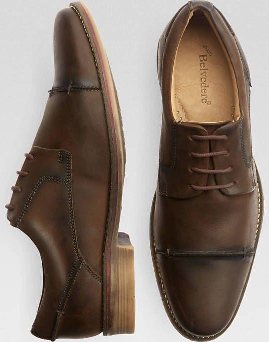 2edb0c652057 Belvedere Paris Coffee Cap Toe Dress Shoes Mens Fashion Shoes