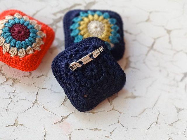 Mosaico Crochet Brooch Brooches And Crochet
