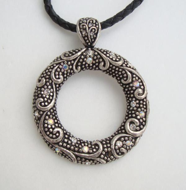 Lia sophia ab rhinestone faux marcasite pendant necklace signed lia sophia ab rhinestone faux marcasite pendant necklace signed jewelry aloadofball Images
