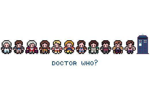 Doctor Who Cross Stitch Pattern (PDF). £2.75, via Etsy.