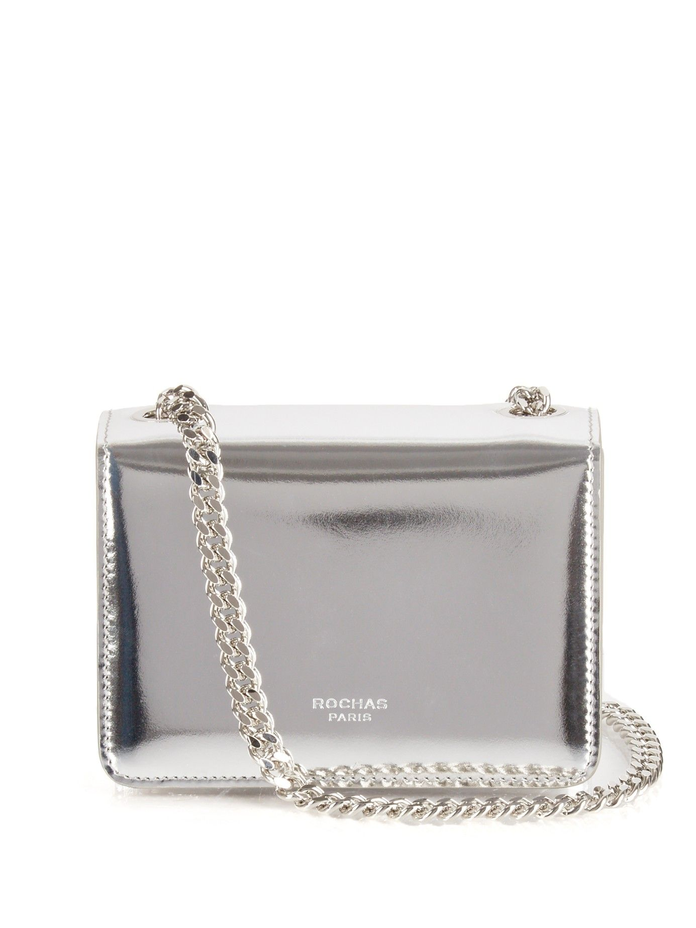 Metallic Leather Shoulder Bag Rochas Matchesfashion Com Uk