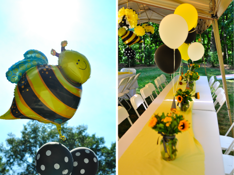 Bee Themed Centerpieces
