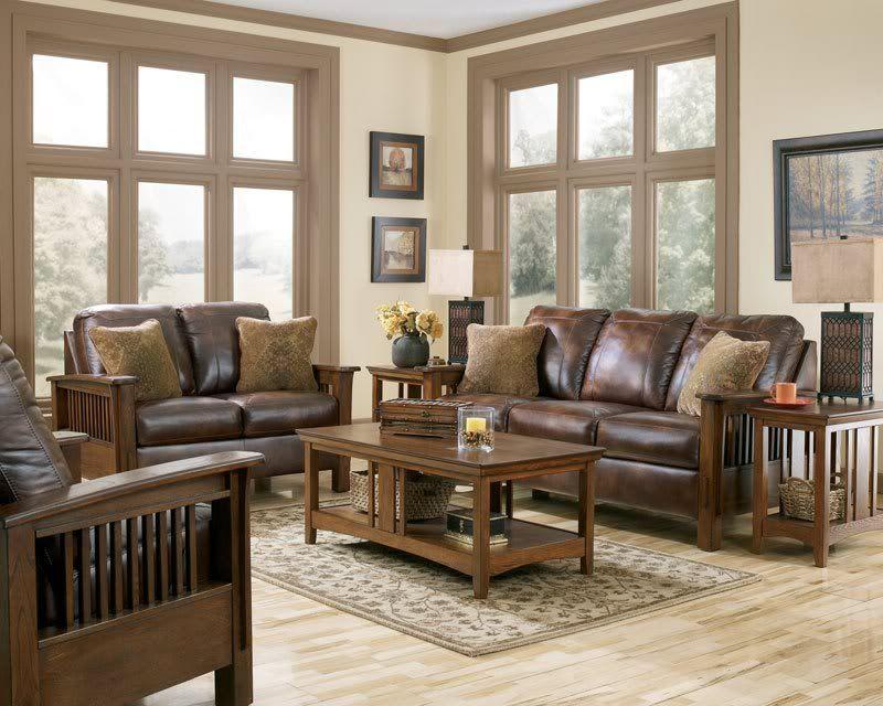 Astounding Gabriel Mission Rustic Brown Faux Leather Sofa Couch Spiritservingveterans Wood Chair Design Ideas Spiritservingveteransorg
