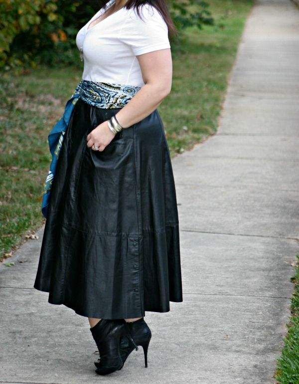 How to wear a long leather skirt - Style is forever - Pinterest ...