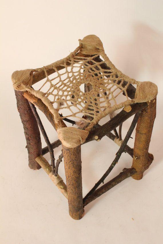 Dream Ca' Stool No 40 Recycled Tree Limb By AlexHagendorf Best Dream Catchers Furniture
