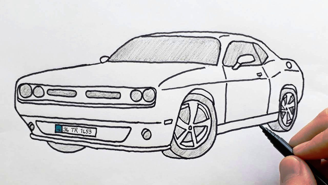 How to Draw Luxury Sports Car - Step By Step Luxury Cars Drawing