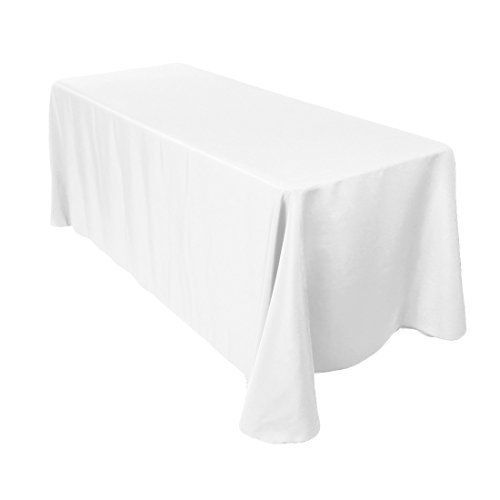 white cotton polyester rectangle table cloth cover for dining rh pinterest com