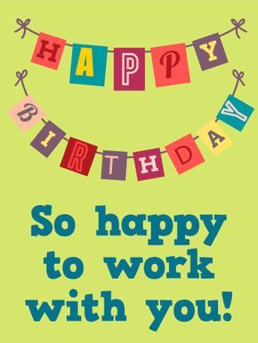 Happy birthday flag card for co worker look no further for a great happy birthday flag card for co worker look no further for a great co worker birthday card you can celebrate your colleagues birthday by sending bookmarktalkfo Gallery