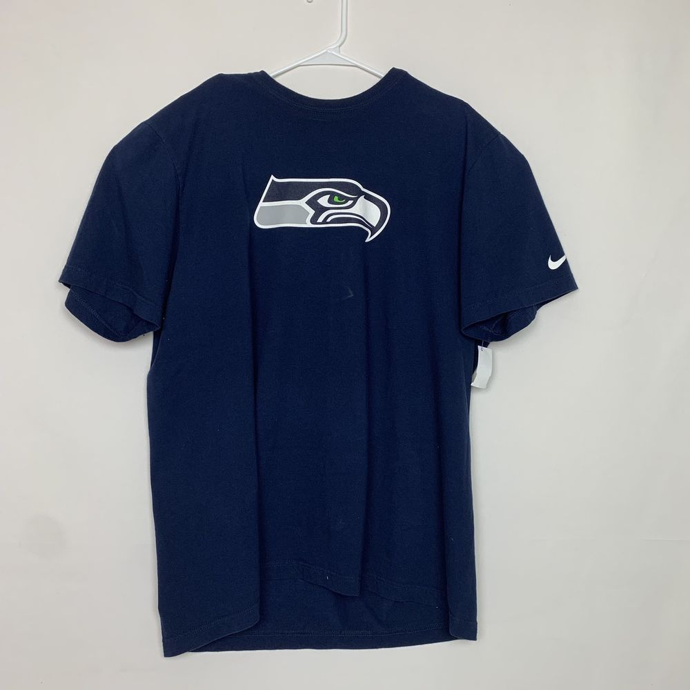 536151187 Nike NFL Men XXL Blue T Shirt Seattle Seahawks 18 Sidney Rice Short Sleeve