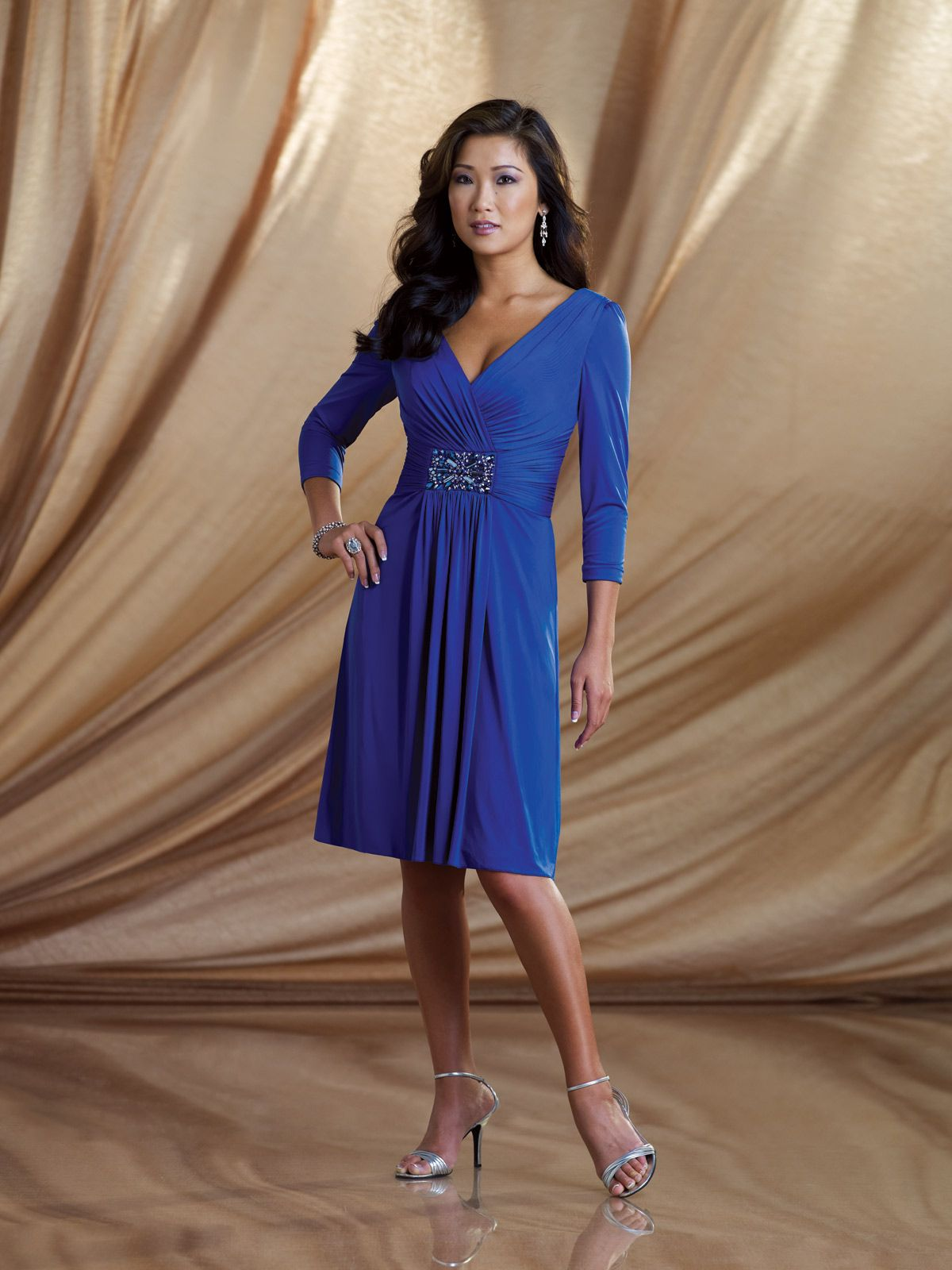 Kathy Ireland Style 2BE008 Jersey Aline dress with