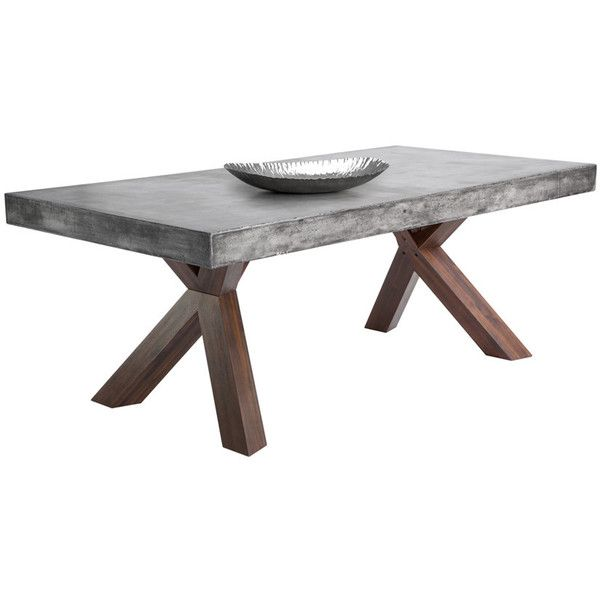 Sunpan 'mixt' Warwick Grey Rectangular Stonetop Dining Table Gorgeous Stone Top Dining Room Tables Decorating Inspiration