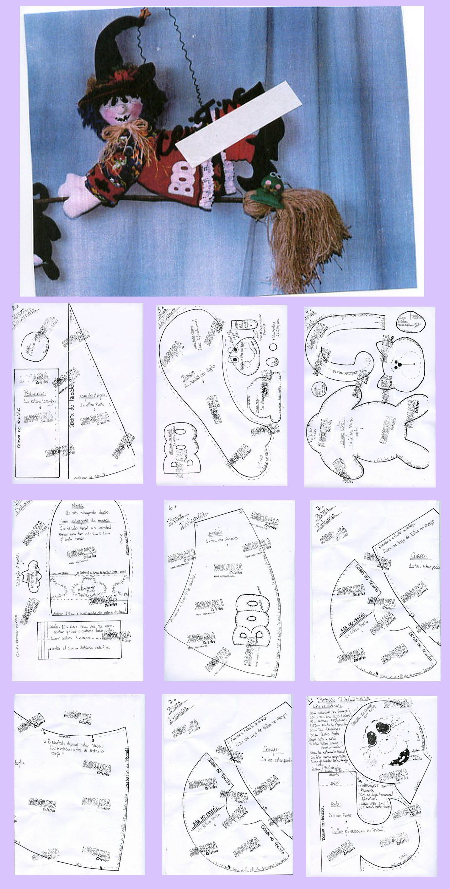 Hanging Witch Doll Pattern | Dolls and Stuffies | Pinterest ...
