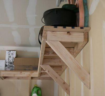 heavy duty shelf brackets diy s diy overhead garage storage rh pinterest com