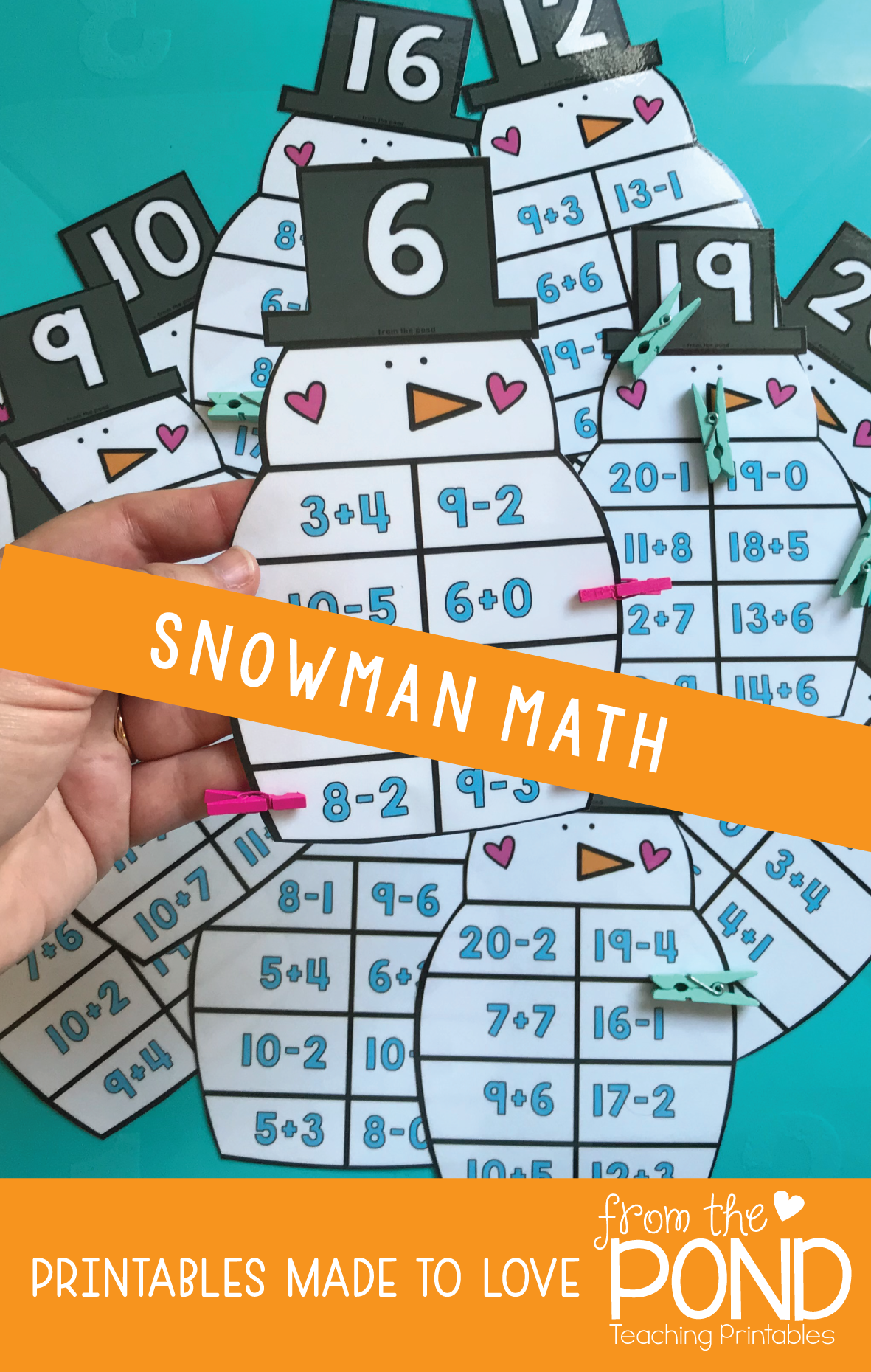 Snowman Addition and Subtraction Activity | Math, Subtraction ...