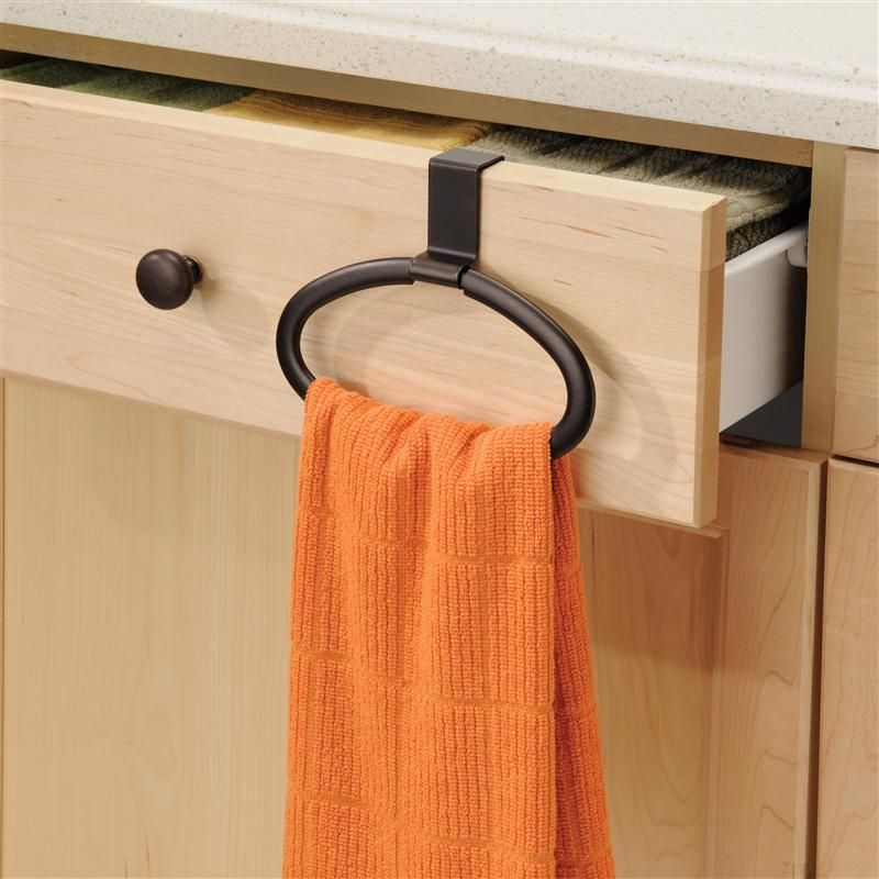 Axis Over The Cabinet Towel Loop Holder Kitchen Towels Storage Kitchen Towels Hanging Dish Towel Storage