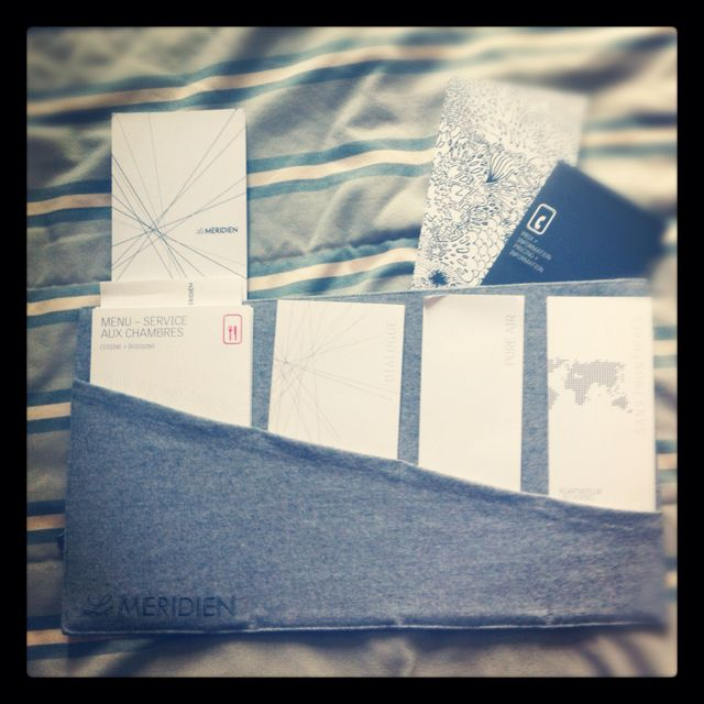 Le meriden hotel stationary in montreal
