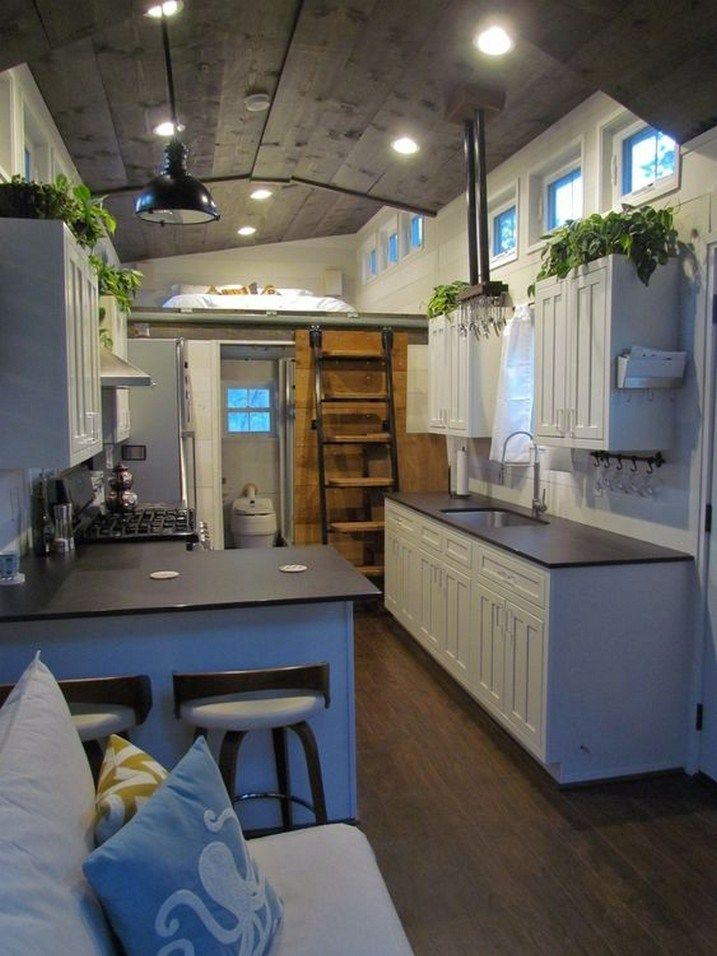 16 Tiny House Interior Design Ideas: Tiny House Kitchen, Tiny House Luxury, Tiny House