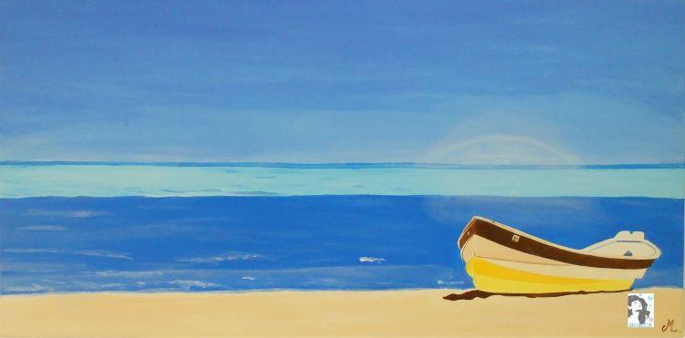 Creatrice Madiana Cachacou Plage Martinique Tableau Peinture
