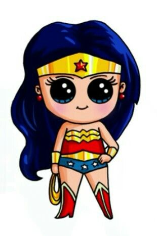 Wonder Woman By:Draw so cute | CUTE para vcs | Pinterest ...