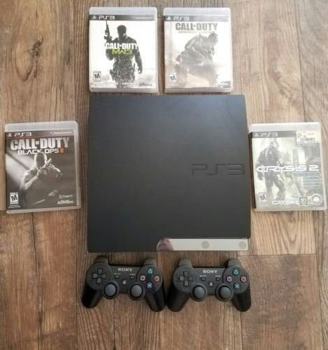 Sony PlayStation 3 Slim - 160GB Charcoal Black Console - 4 Games and 2 Remotes  https://t.co/lQj4MffXUJ https://t.co/h2hsNDKjwz