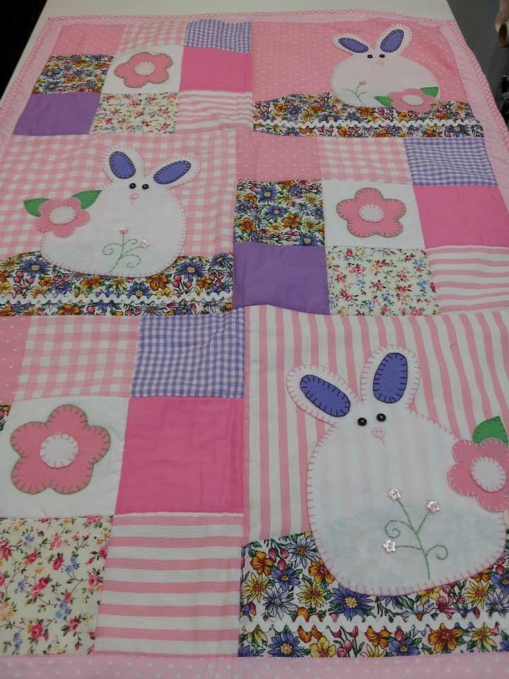 Colcha de cuna en patchwork bebe pinterest colchas - Colchas patchwork infantiles ...