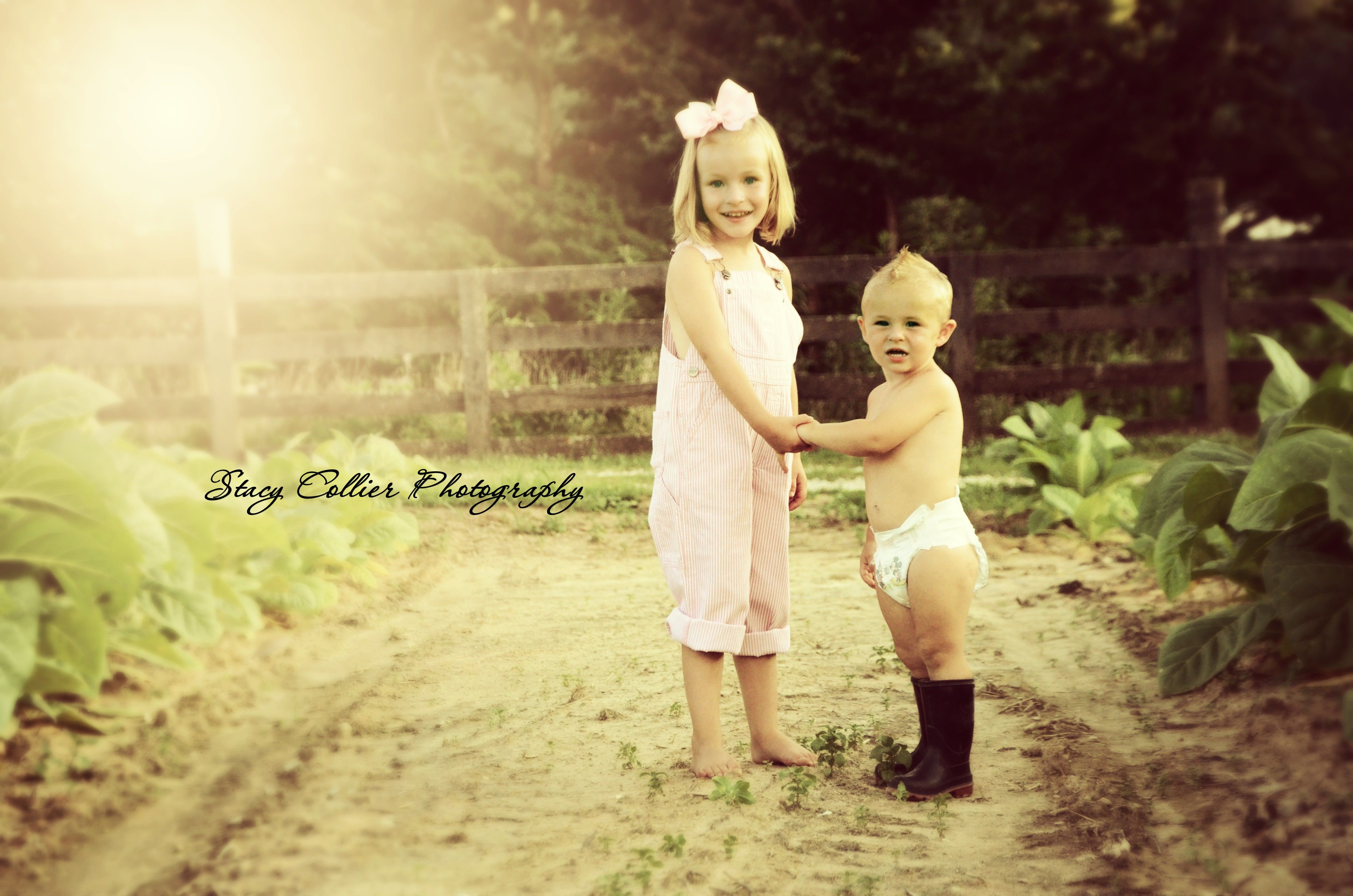 brother/sister photo, farm life, tobacco, sibling photo, collier photography