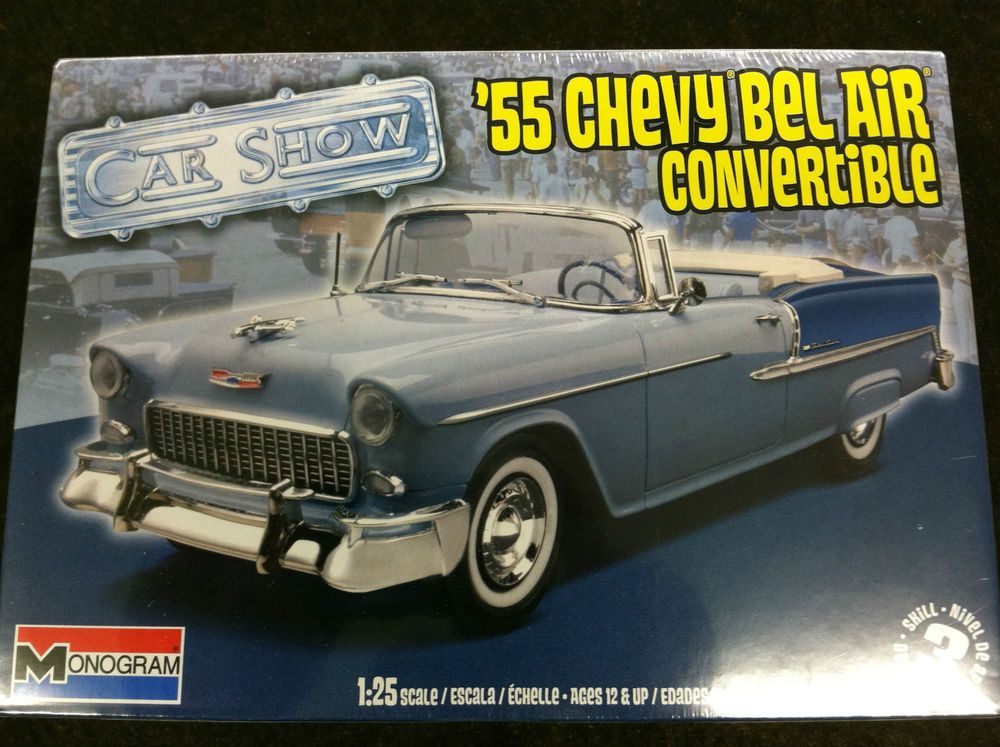 Revell 55 Chevy Bel Air Convertible 1 25 Scale Model Car Kit 85