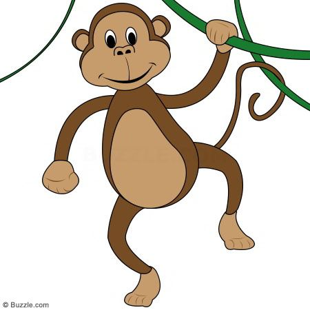 Kids Go Ape Step By Step Instructions To Draw A Cartoon Monkey Monkey Drawing Baby Animal Drawings Cartoon Monkey