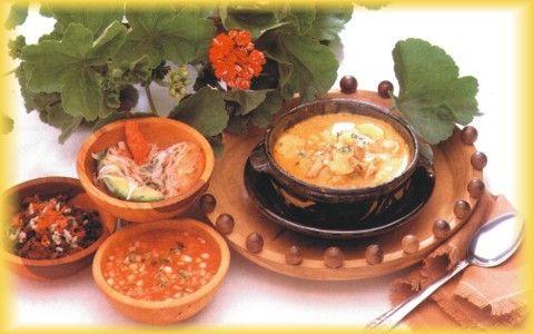 Mama Clorinda · Ecuadorian Food.YAGUARLOCRO  Potato soup made with sprinkings of blood.