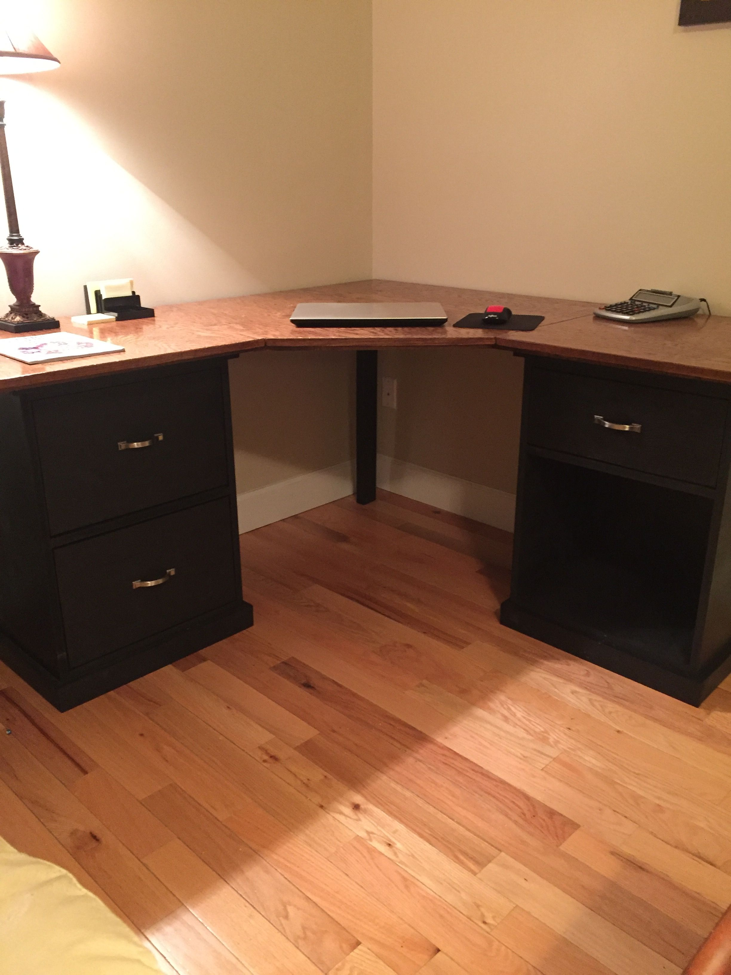 Diy Corner Desk From Ana White Diy Corner Desk Modern Corner