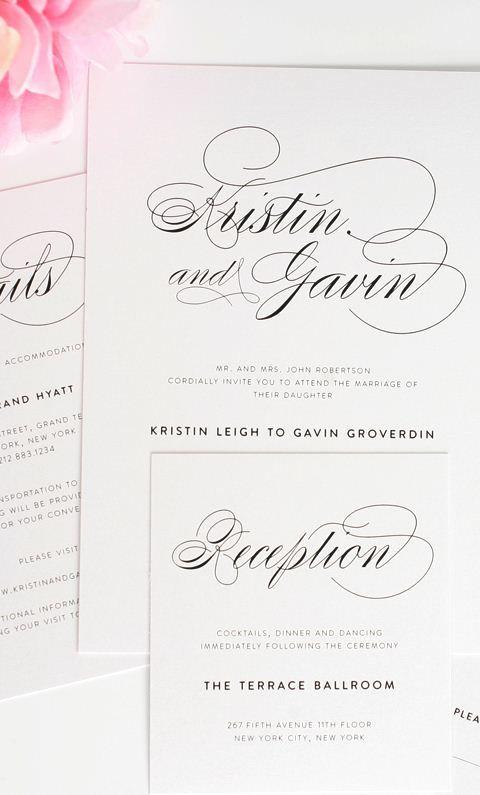 Script Elegance Wedding Invitations Shine wedding invitations - fresh anniversary invitation font