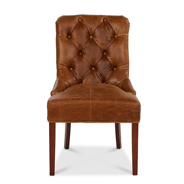 c05185d8a616e Castello Brown Cerato Leather In Huntingtower Grape Out Harris Tweed dining  chair front view - Modish