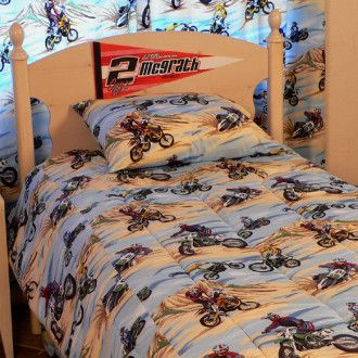 Motocross bedding sets queen 18 astounding bike bedding for Decoration ktm