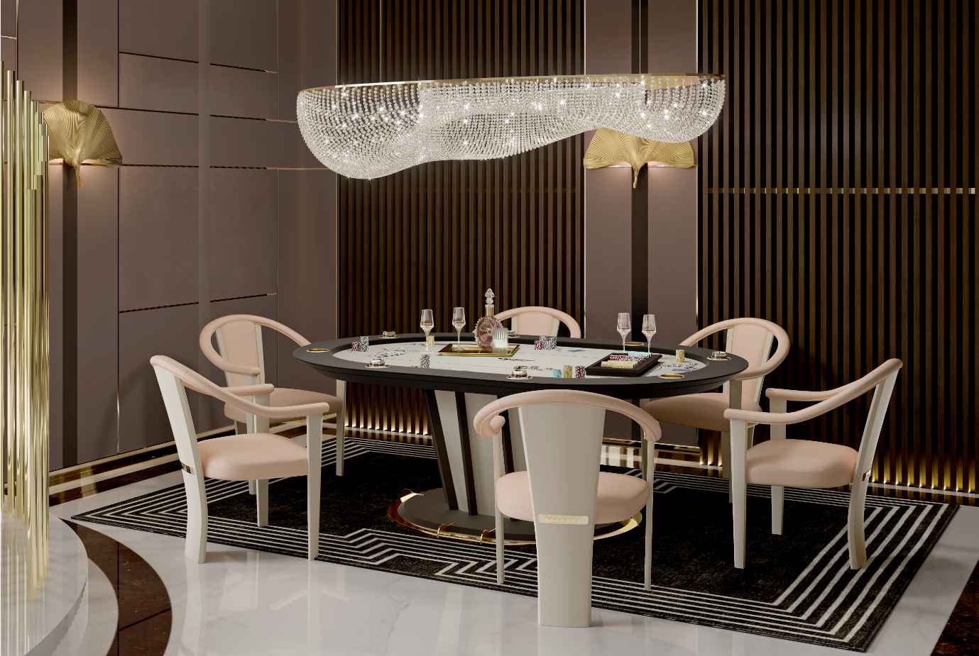 poker tables in 2019 entertainment by vismara design table rh pinterest com