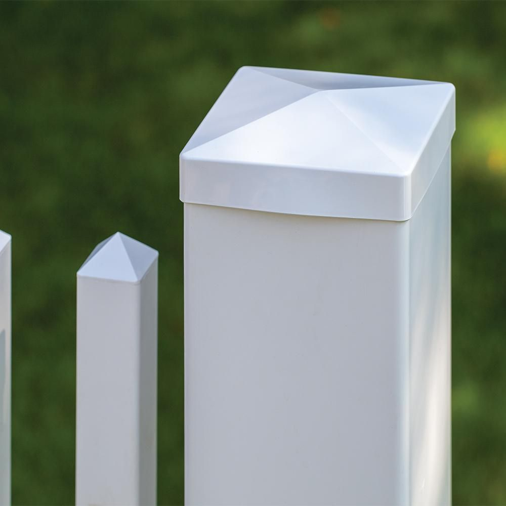 Veranda 3 4 In X 1 2 Vinyl Fence Post Cap Clip 73014080 The Home Depot Caps White