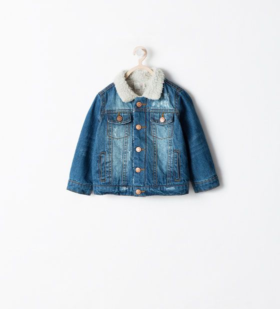 ZARA - KIDS - DENIM AND SHEEPSKIN JACKET | Baby/toddler boy wear ...