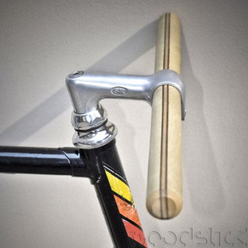 Ash-Maple-Walnut Wood Handlebar with Built in Stainless Steel....