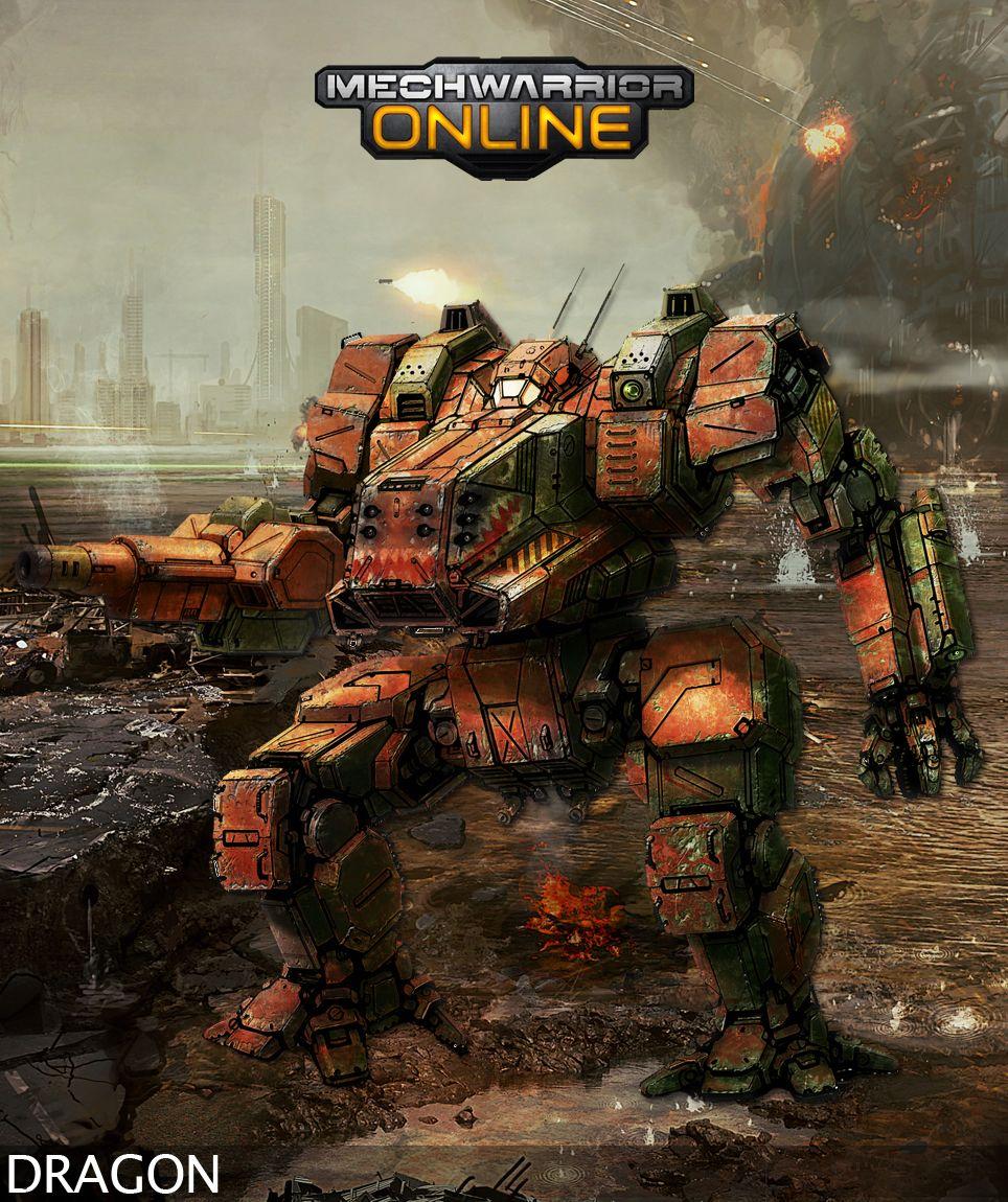 Warrior Film Online: DRG-1N Dragon Concept From Mechwarrior Online