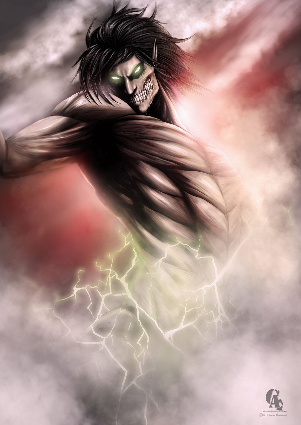 Eren Jaeger titan form by AnetaChalimoniuk on DeviantArt