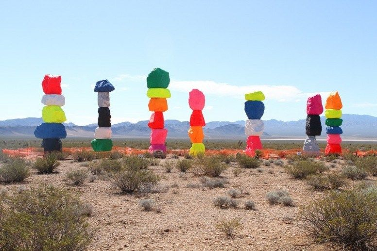 Simple Guidance For You In Painted Rocks Las Vegas Directions Desert Painting Seven Magic Mountains Painted Rocks