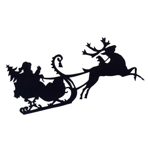 Free SVG File Download Santa And Sleigh BeaOriginal