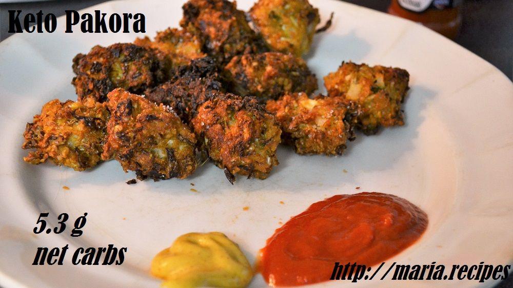 Keto pakora indian vegan snack glutenfree grainfree